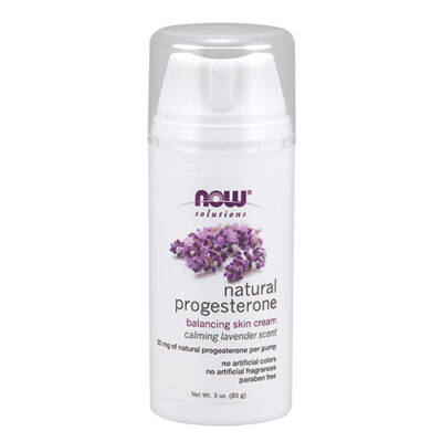 NOW Natural Progesterone Balancing Skin Cream with Lavender (85g)