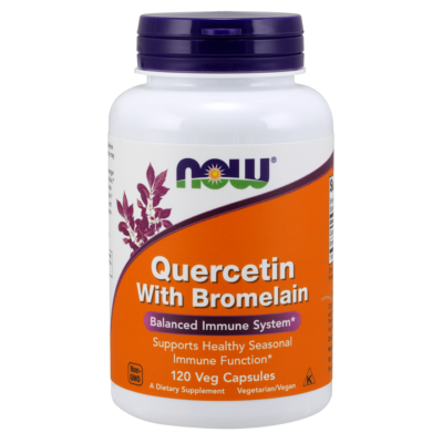 NOW Foods Quercetin with Bromelain (120 kapszula)