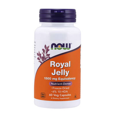 NOW Foods Royal Jelly 1500 mg (60 kapszula)