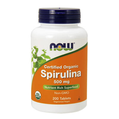 NOW Foods Spirulina 500mg (200 tabletta)