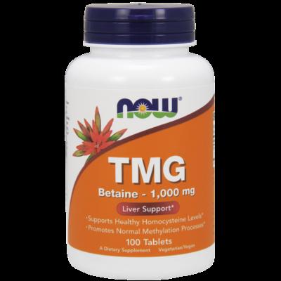 NOW Foods TMG (Trimethylglycine) - Betaine 1000mg (100 tabletta)