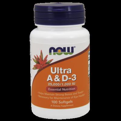 NOW Foods Ultra A & D3 25000/1000 IU (100 lágykapszula)