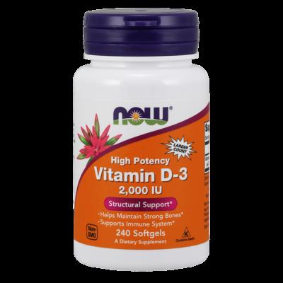 NOW Foods Vitamin D-3 2000IU (240 lágy kapszula)