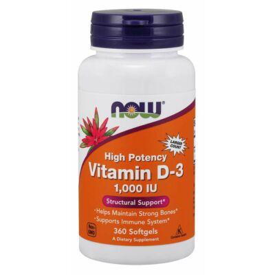 NOW Foods Vitamin D-3 1000IU (360 lágy kapszula)