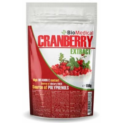 Biomedical Cranberry Extract (Tőzegáfonya kivonat) (100g)