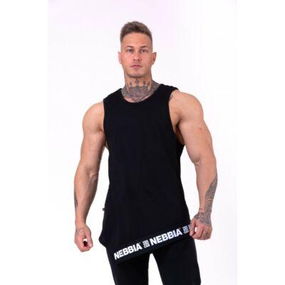 NEBBIA Be rebel! ujjatlan trikó 141 (Fekete)