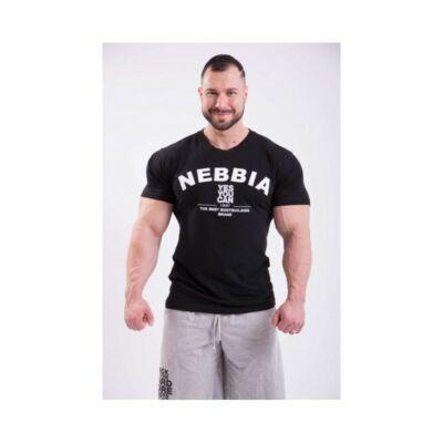 NEBBIA HardCore Trikó hímzéssel 396 (Fekete)