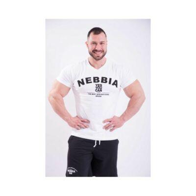 NEBBIA HardCore Trikó hímzéssel 396 (Fehér)