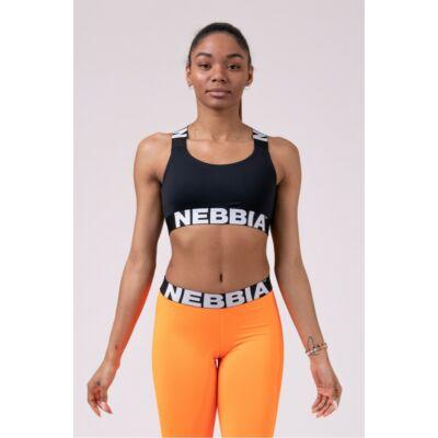 NEBBIA Power Your Hero Ikonikus sportmelltartó 535 (Fekete)