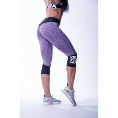 NEBBIA High Waist női ¾ leggings 607 (Lila)