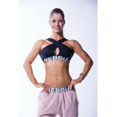 NEBBIA Crossed női sportmelltartó 622 (Fekete)