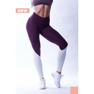 "NEBBIA High Waist ""N""s női leggings 638 (Burgundi/vanília)"