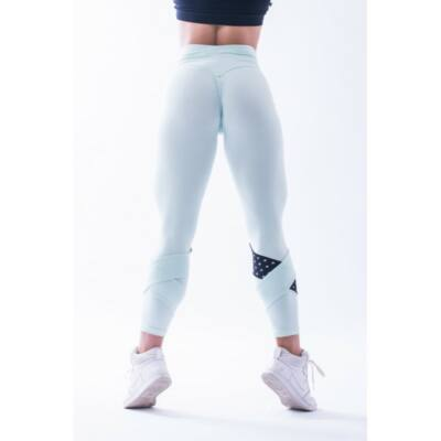 NEBBIA Asymetrical 7/8 női leggings 639 (Menta/fekete)