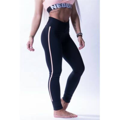 NEBBIA One Striped női leggings 652 (Fekete)