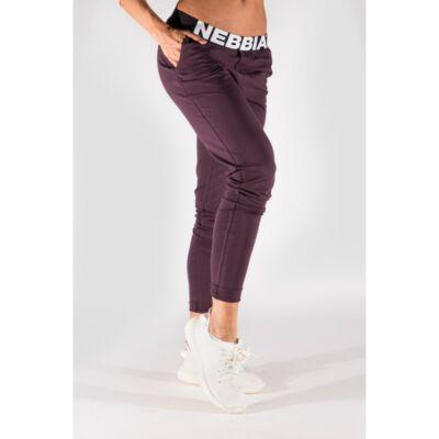 NEBBIA Boyfriend női melegítő nadrág 655 (Burgundi)