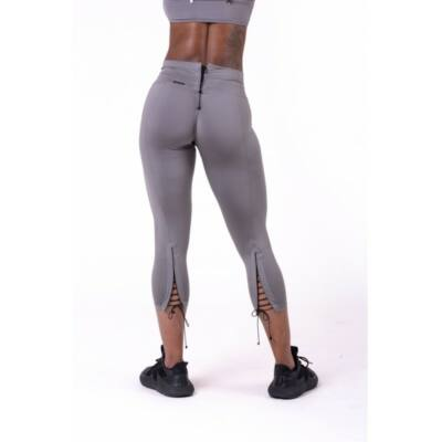 NEBBIA Lace-up 7/8 leggings 661 (Metál)