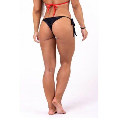 NEBBIA Scrunch butt fűzős bikini alsó 673 (Fekete)