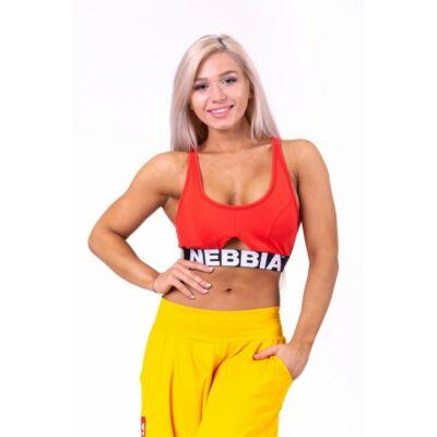 NEBBIA Athletic Cut Out sportmelltartó 695 (Piros)