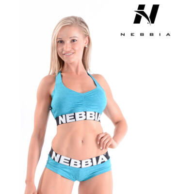 NEBBIA (Melange) női mini top 223 (Kék)