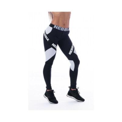 NEBBIA Combi leggings csík betéttel 214 (Fekete)