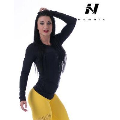 NEBBIA Funkcionális trikó 220 (Fekete)