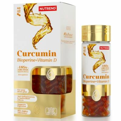 Nutrend Curcumin + Bioperine + Vitamin D (60 kapszula)
