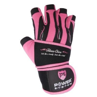 Power System FITNESS CHICA női edzőkesztyű (Pink)
