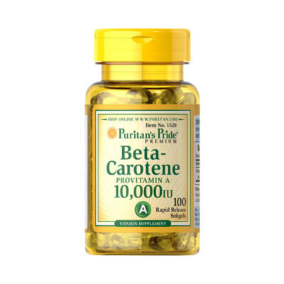 Puritan's Pride Beta Carotene 10000 IU (100 lágy kapszula)