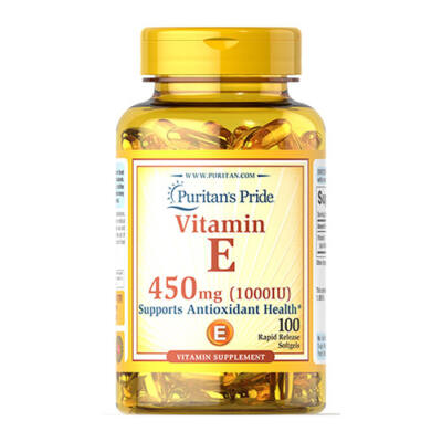 Puritan's Pride Vitamin E-1000 IU (100 lágy kapszula)