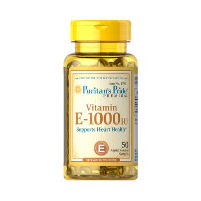 Puritan's Pride Vitamin E-1000 IU (50 lágy kapszula)