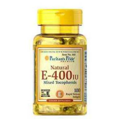 Puritan's Pride Vitamin E-400 IU Mixed Tocopherols Natural (100 lágy kapszula)