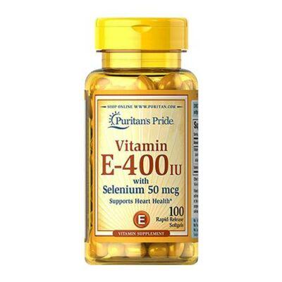 Puritan's Pride Vitamin E-400 IU with Selenium 50mcg (100 lágy kapszula)