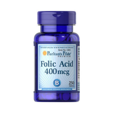 Puritan's Pride Folic Acid 400mcg (250 tabletta)