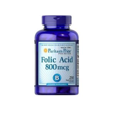 Puritan's Pride Folic Acid 800mcg (250 tabletta)