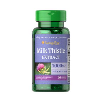 Puritan's Pride Milk Thistle Extract 1000mg (90 lágykapszula)