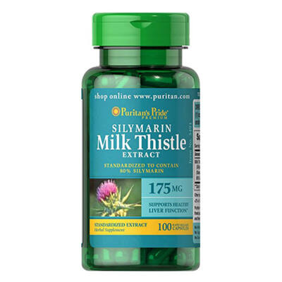 Puritan's Pride Milk Thistle Standardized Extract (Silymarin) 175mg (100 kapszula)