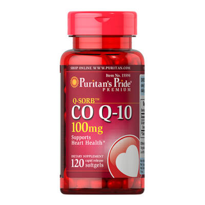 Puritan's Pride Q-SORB™ CO Q-10 100mg (120 lágy kapszula)
