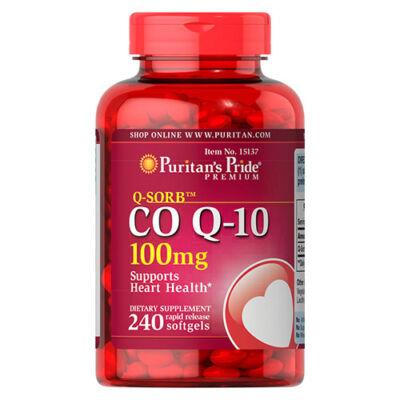 Puritan's Pride Q-SORB™ CO Q-10 100mg (240 lágy kapszula)