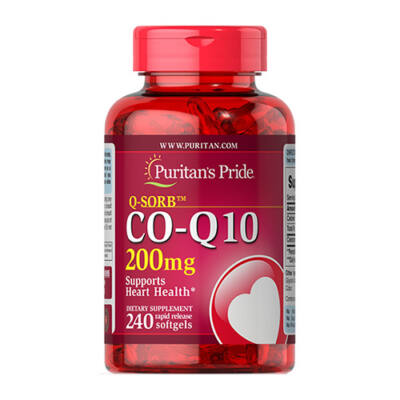 Puritan's Pride Q-SORB™ CO Q-10 200mg (240 lágy kapszula)