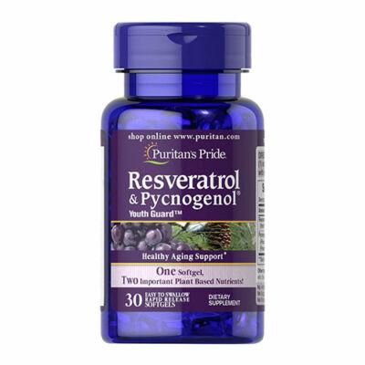 Puritan's Pride Resveratrol & Pycnogenol® (30 lágy kapszula)