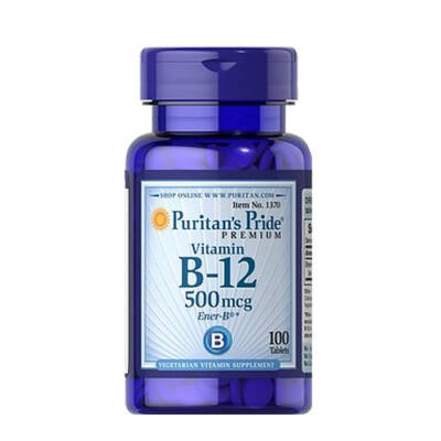 Puritan's Pride Vitamin B-12 500mcg (100 tabletta)