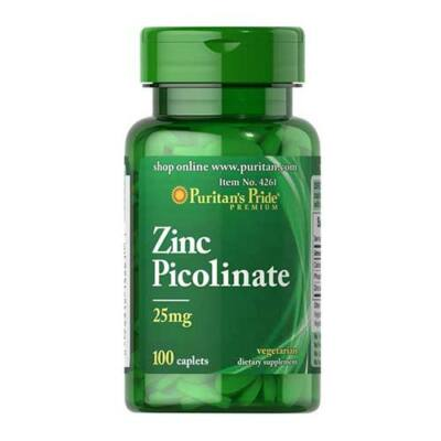 Puritan's Pride Zinc Picolinate 25mg (100 tabletta)