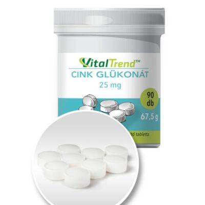 Vital Trend Cink Glükonát 25 mg (90 tabletta)