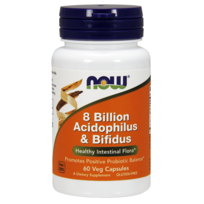 NOW Foods 8 Billion Acidophilus & Bifidus (60 kapszula)