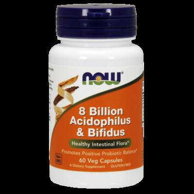NOW Foods 8 Billion Acidophilus & Bifidus (60 kapszula)