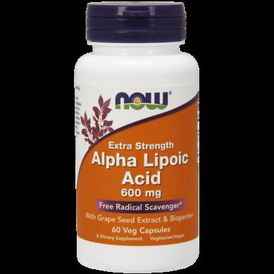 NOW Foods Alpha Lipoic Acid Extra Strength 600mg (60 kapszula)