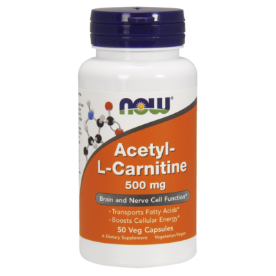 NOW Foods Acetyl-L-Carnitine 500mg (50 kapszula)
