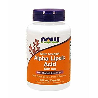 NOW Foods Alpha Lipoic Acid Extra Strength 600mg (120 kapszula)