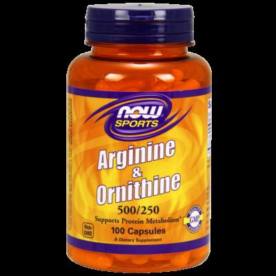 NOW Foods Arginine & Ornithine 500/250 (100 kapszula)