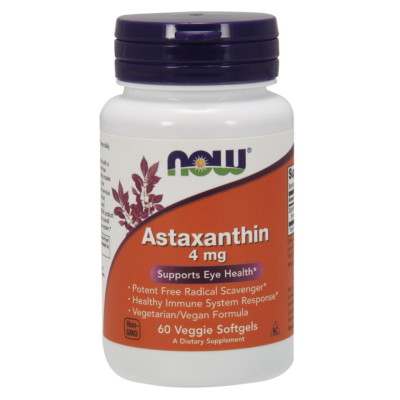 NOW Foods Astaxanthin 4mg (60 lágy kapszula)